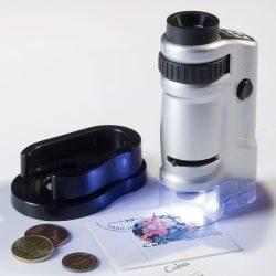 Leuchtturm zsebmikroszkóp, 20-40x nagyítás