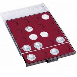 Leuchtturm MB érmetároló dobozok kerek beosztásokkal (16,5-41 mm átmérő, különböző átmérő 1 cent - 2 euró)