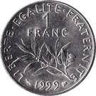 Franciaország-1959-2001-1 Franc-Nikkel-VF-Pénzérme