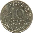 Franciaország-1963-1997-10 Centimes-Réz-Aluminium-Nikkel-VF-Pénzérme
