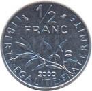 Franciaország-1964-2001-1/2 Francs-Réz-Nikkel-VF-Pénzérme