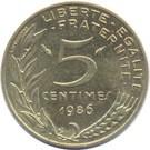 Franciaország-1966-2001-5 Centimes-Réz-Aluminium-Nikkel-VF-Pénzérme