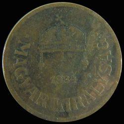 Magyarország-1926-1940-2 Fillér-Bronz-VF-Pénzérme