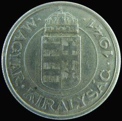 Magyarország-1941-1943-2 Pengő-Aluminium-VF-Pénzérme
