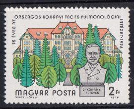22.Magyarország-1976-75 éves az Országos Korányi TBC és Pulmonológiai Intézet-UNC-Bélyeg