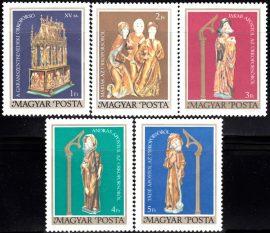 05.Magyarország-1980 sor-Színes faszobrok-UNC-Bélyegek