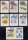 04.Magyarország-1981 sor-Zeppelin híres repülései-UNC-Bélyegek