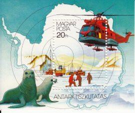 Magyarország-1987 blokk-Antarktiszkutatás-UNC-Bélyegek