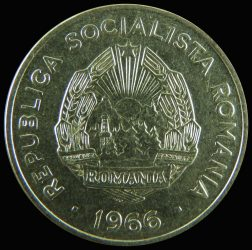 Románia-1966-15 Bani-Nikkel borítású acél-VF-Pénzérme
