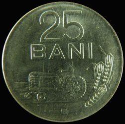 Románia-1966-25 Bani-Nikkel borítású acél-VF-Pénzérme