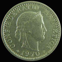 Svájc-1960-2008-20 Rappen-Réz-Nikkel-VF-Pénzérme
