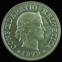Svájc-1962-1979-5 Rappen-Réz-Nikkel-XF-Pénzérme