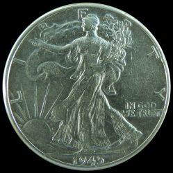 Egyesült Államok-1945-Fél Dollár-Ezüst-Pénzérme