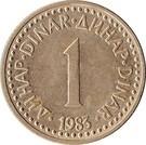 Jugoszlávia-1982-1986-1 Dinar-Nikkel-Sárgaréz-VF-Pénzérmék