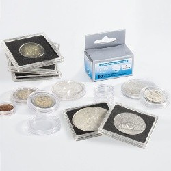 Coin capsules, holders, rolls